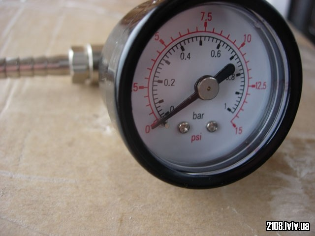 fuel pressure gauge 0-15 psi